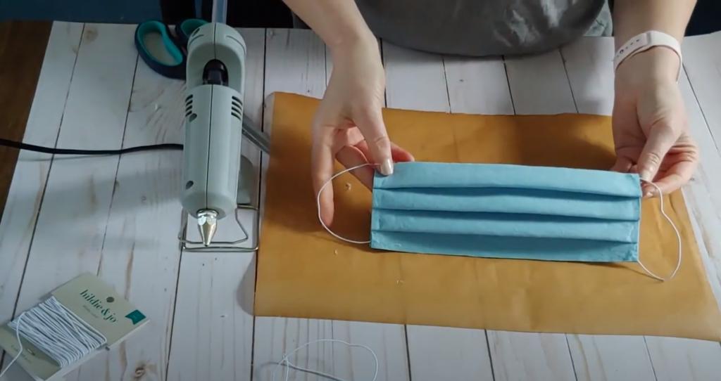 DIY Shop Towel Face Mask